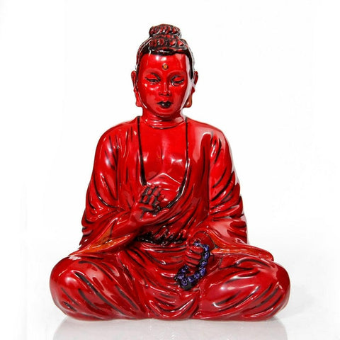 Rare red glaze Buddha, a Royal Doulton flambe, limited edition