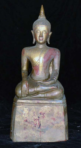 Thai Buddha, carved wood, old