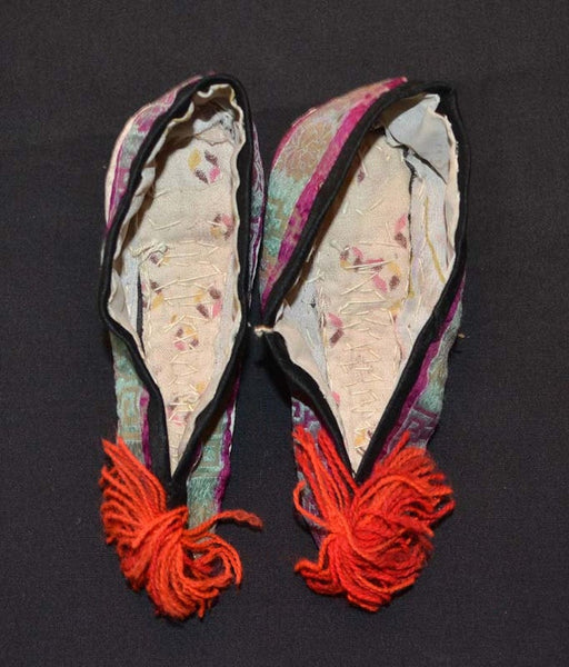 Antique Chinese Lotus Shoes For Bound Feet