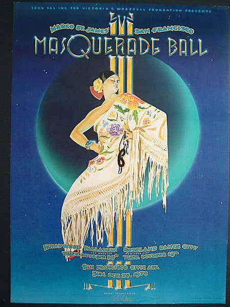 Margo St. James' San Francisco Masquerade Ball Poster, printer's proof