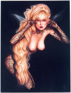 1991 greeting card with artwork by Olivia De Berardinis titled Dark Angel