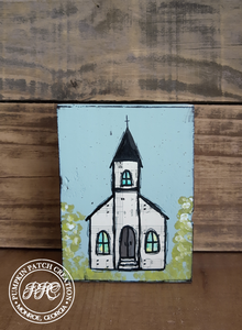 Hymnal Church Original Mixed Media Art