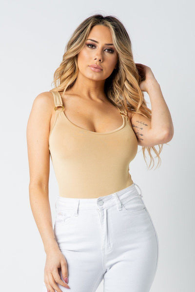 Bodysuit Lux Allure - O Ring Strap Bodysuit - The Luxstop