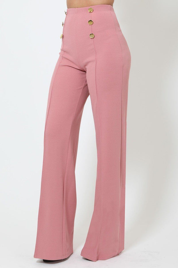 Pants & Culotte It's Friday - High-waist Crepe Pants - The Luxstop