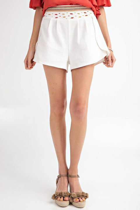Shorts It's Friday - High Rise Waist Shorts - The Luxstop