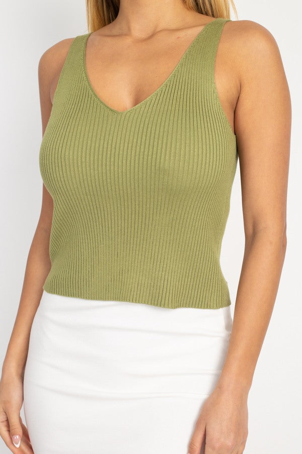 It's Friday - Sweater-knit Tank Top - The Luxstop