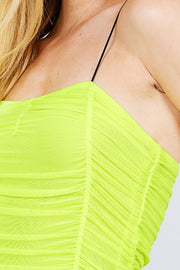 It's Friday - Strap Mesh Cami Top - The Luxstop