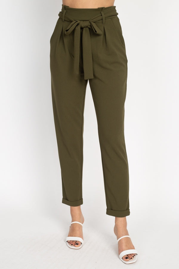 Pants & Coulotte It' Friday - Paperbag Self Tie Pants - The Luxstop