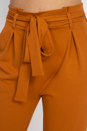 Paperbag Self Tie Pants - The Luxstop
