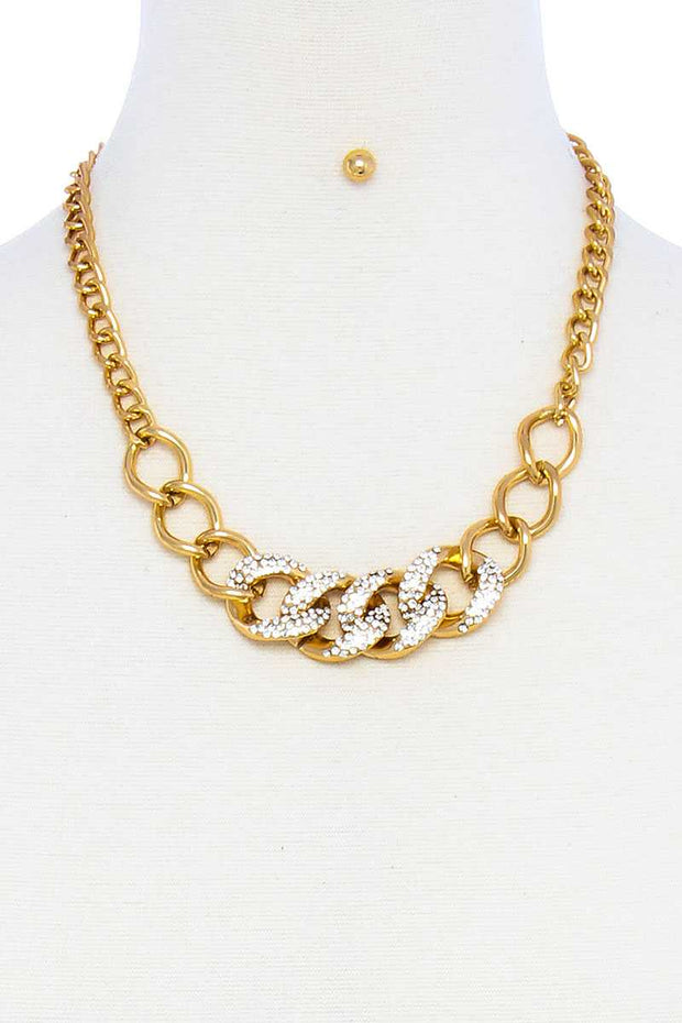 Designer Fashion Chain Necklace And Earring Set - The Luxstop