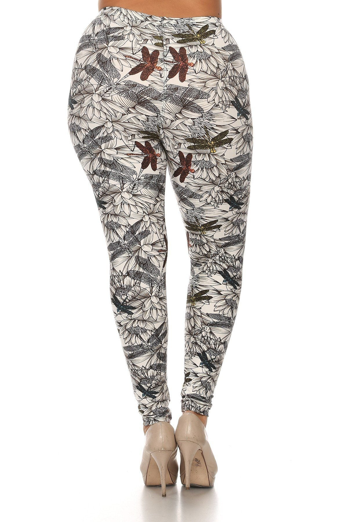 Denim G.O.A.T Plus - Dragonfly Leggings - The Luxstop