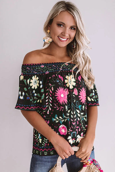 Blouses & Shirts It's Friday - Floral Shift Top - The Luxstop