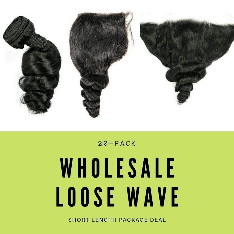 Sad'e - Brazilian Loose Wave Short Length Package Deal - The Luxstop
