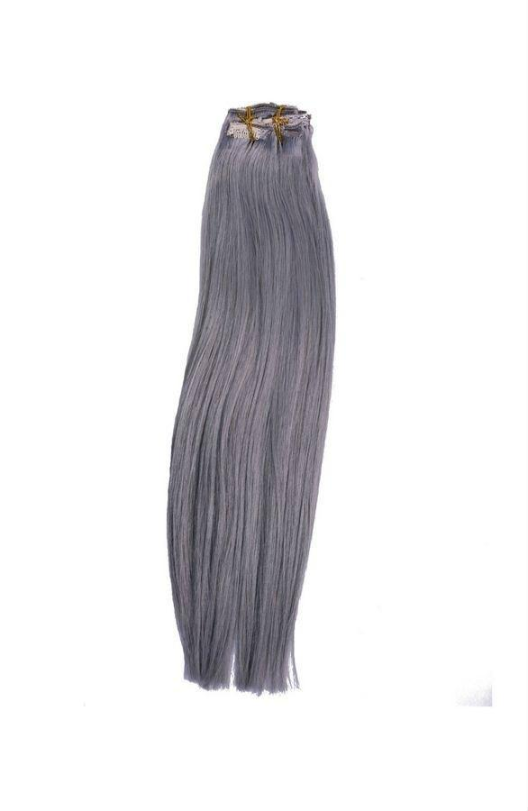 Sad'e - Platinum Gray Clip-In Extensions - The Luxstop