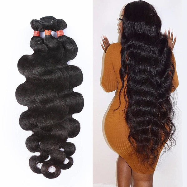 32 34 36 38 40 Inch Body Wave Hair Bundles 3/4 pieces Bundles