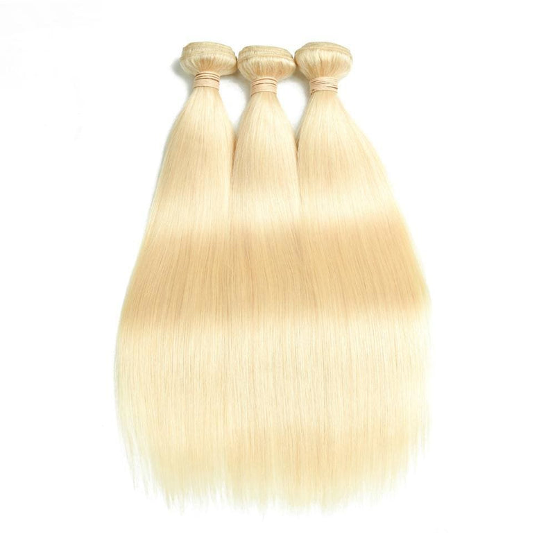 613# Blonde Hair 3Bundles Straight Human Hair Weave
