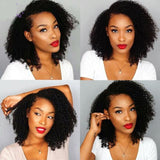 Alexa Afro Kinky Curly Short Bob Wig 360 Lace Front Human Hair Wigs