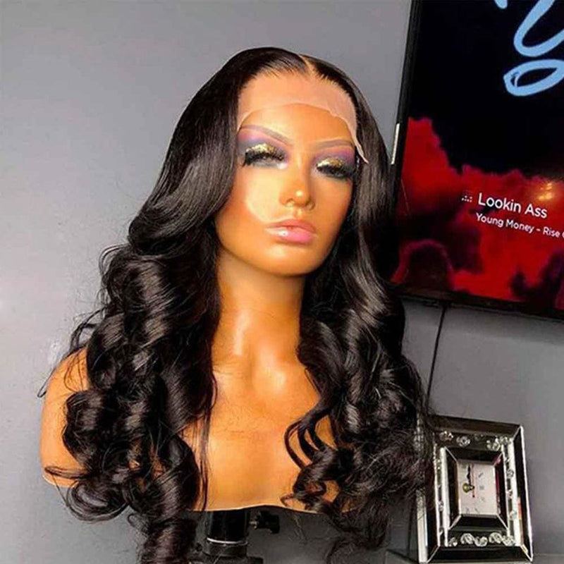 Alyssa Swiss Lace 180% Pre-plucked 13x6 Hide Lace+ Hide Knots Body Wave Lace Wig