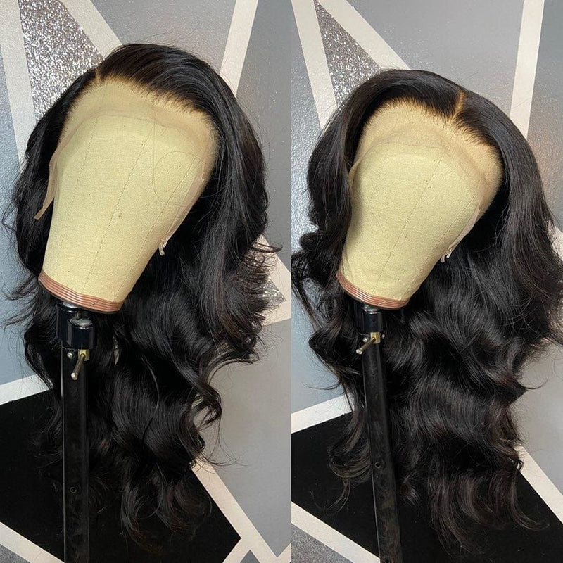 Angelia Pre-Made Double Fake Scalp Body Wave 13x6 Lace Front Wig