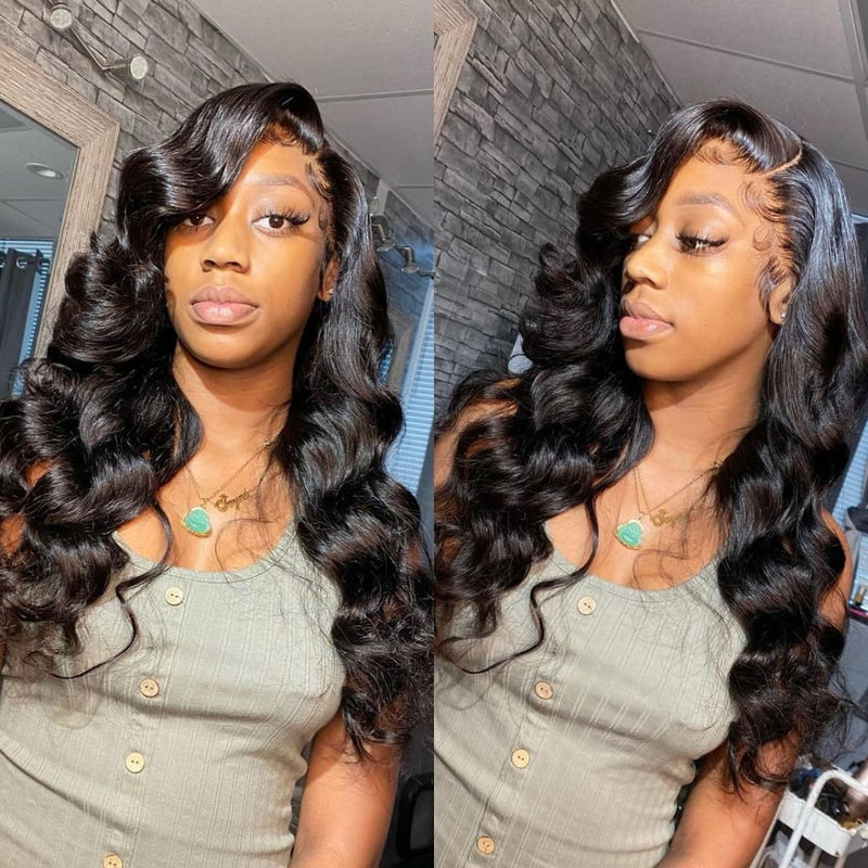 Ariel Body Wave Full Lace Human Hair Wigs Natural Color Brazilian Human Virgin Hair Free Part Lace Wigs