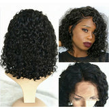 Ava 13x6 Lace Front Wig Deep Wave Short Bob wig Natural Color Human Hair