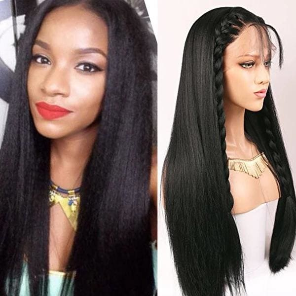 Brianna Swiss Lace 180% Pre-plucked Hide Lace+ Hide Knots Yaki Straight Lace Wig
