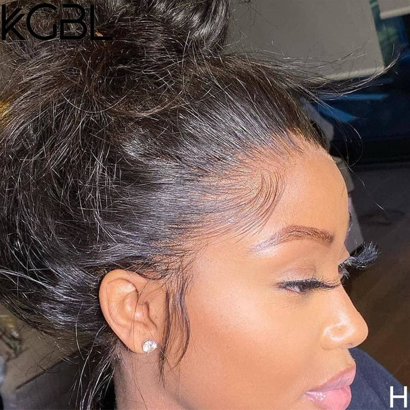 Candice Preplucked Hairline Natural Wave Human Hair 360 Lace Front Wig