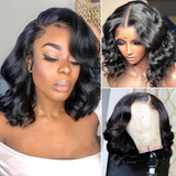 Danica Full Lace Wig Body Wave Bob wig Natural Color Human Hair