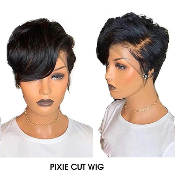 Durfee丨Pixie Cut Short Lace Front Human Hair Wigs