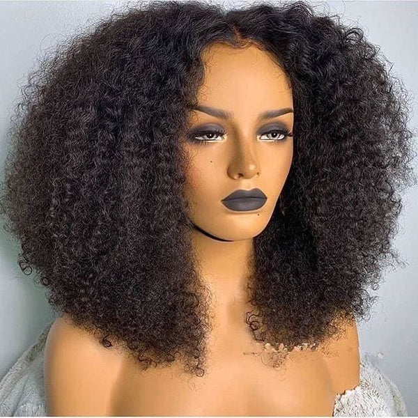 Eden Pre-Made Curly Bob Human Hair 360 Lace Front Wig 180% Density