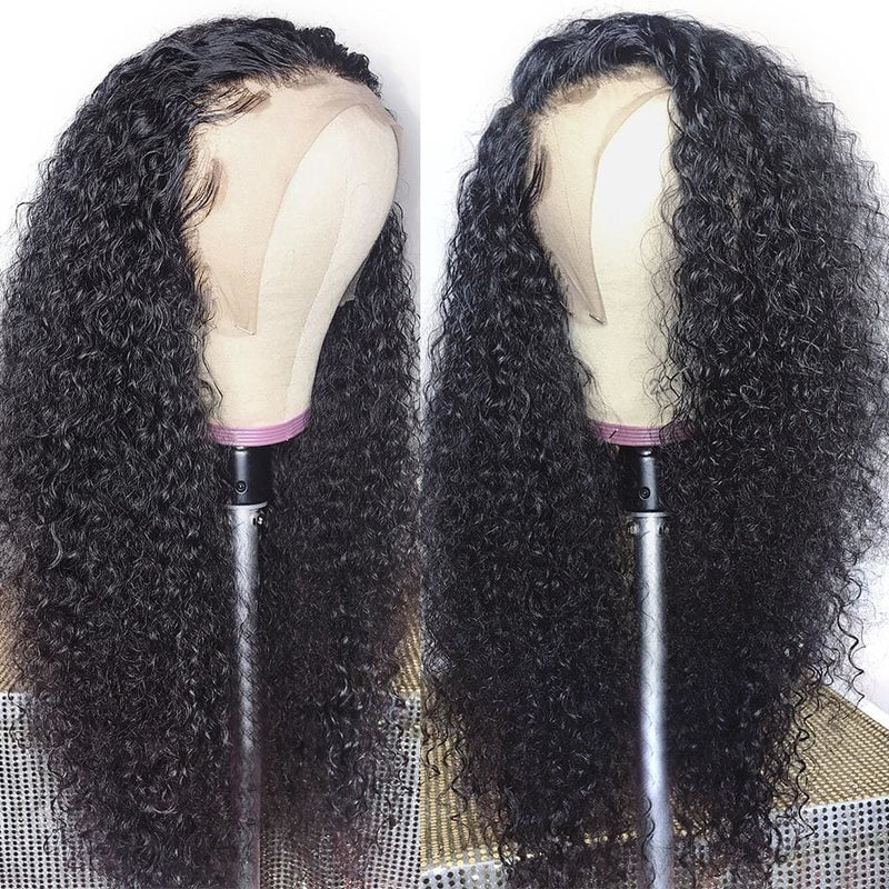 Eleanor Preplucked Hairline Deep Curly Human Hair 360 Lace Front Wig