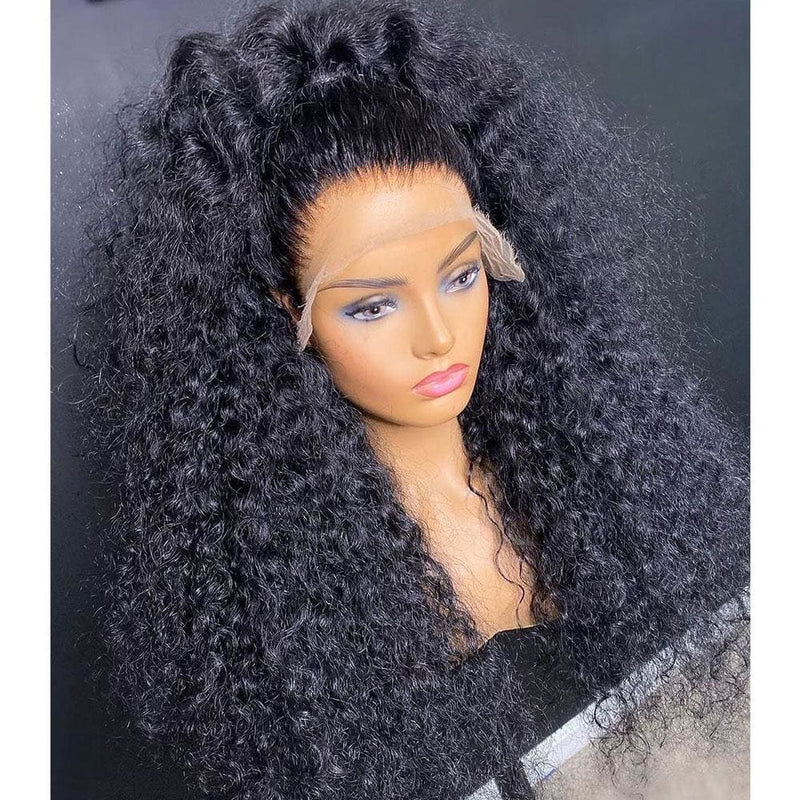 ENID PREPLUCKED BRUSH OUT CURLY HUMAN HAIR 360 LACE FRONT WIG