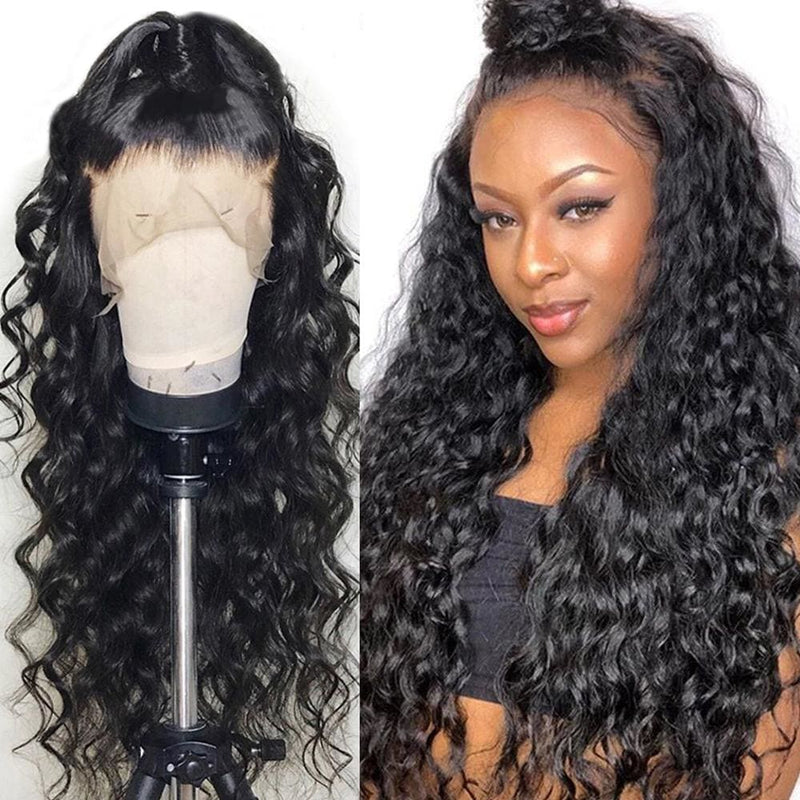 Fiona Pre-Made Fake Scalp Loose Wave Human Hair 360 Lace Front Wig