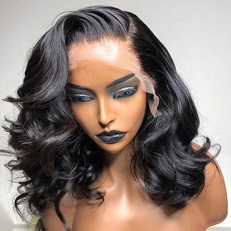 Flora Body Wave Short Bob Wig 360 Lace Front Human Hair Wigs