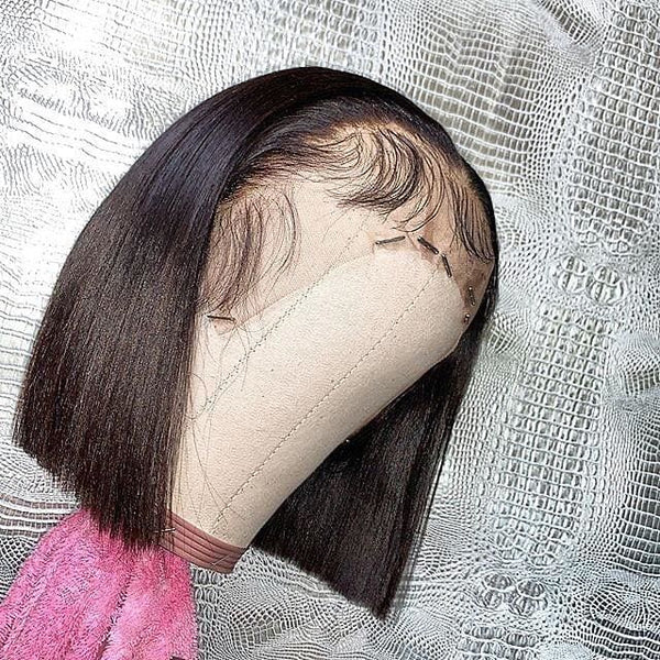 Hazel Full Lace Wig Silky Straight Bob wig Natural Color Human Hair