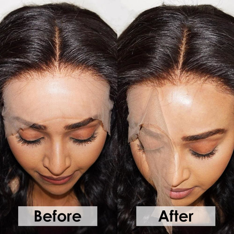 HD Lace Frontal 13x4 Pre Pluck Hairline With Baby Hair Transparent Lace Frontal