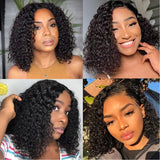 Heather Deep Curly Short Bob Wig 360 Lace Front Human Hair Wigs