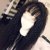 Heaven Kinky Curly Full Lace Human Hair Wigs Natural Color Brazilian Human Virgin Hair Free Part Lace Wigs