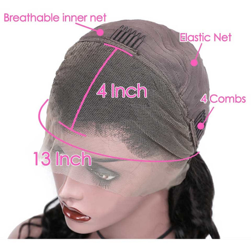 Helen Pre Plucked 13*6 Loose Wave Lace Front Human Hair Wigs Fake Scalp