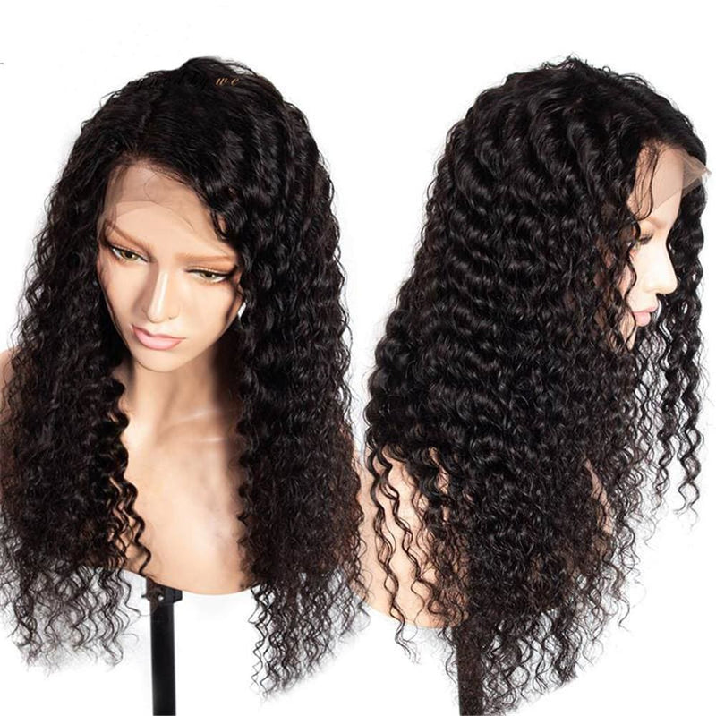 Jill Pre-Made Fake Scalp Deep Wave Human Hair 360 Lace Front Wig