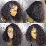 Jordyn Full Lace Wig Curly Wave Bob wig Natural Color Human Hair
