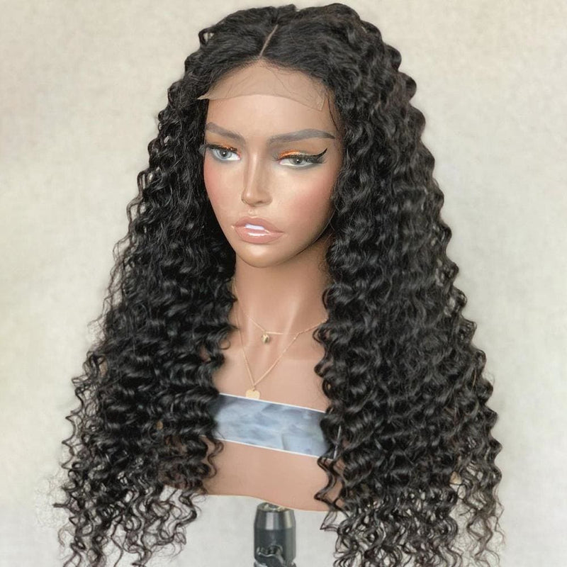 Kiara Deep Wave Full Lace Human Hair Wigs Natural Color Brazilian Human Virgin Hair Free Part Lace Wigs
