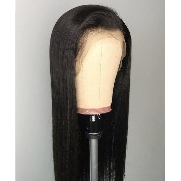 Megan Swiss Lace Pre-plucked Hide Lace+ Hide Knots Silk Straight Lace Wig