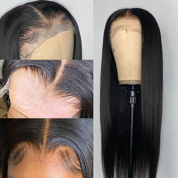 Mika HD Swiss Lace 5X5 Closure Silk Straight Wig