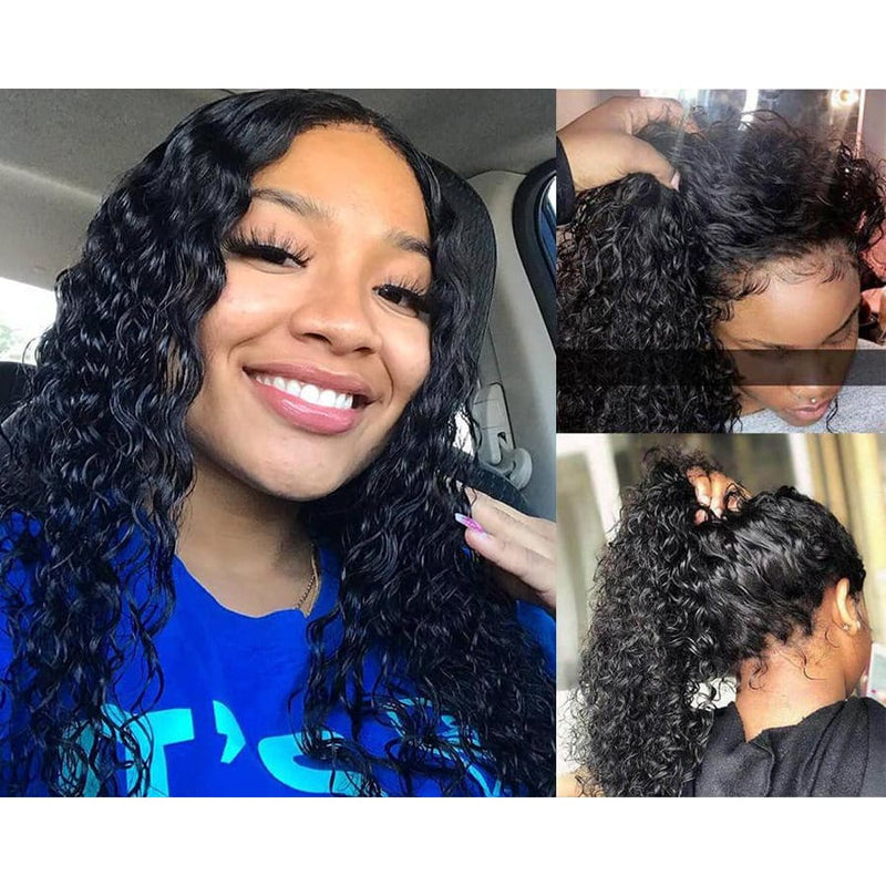 Morgan Preplucked Hairline Curly Wave Human Hair 360 Lace Front Wig