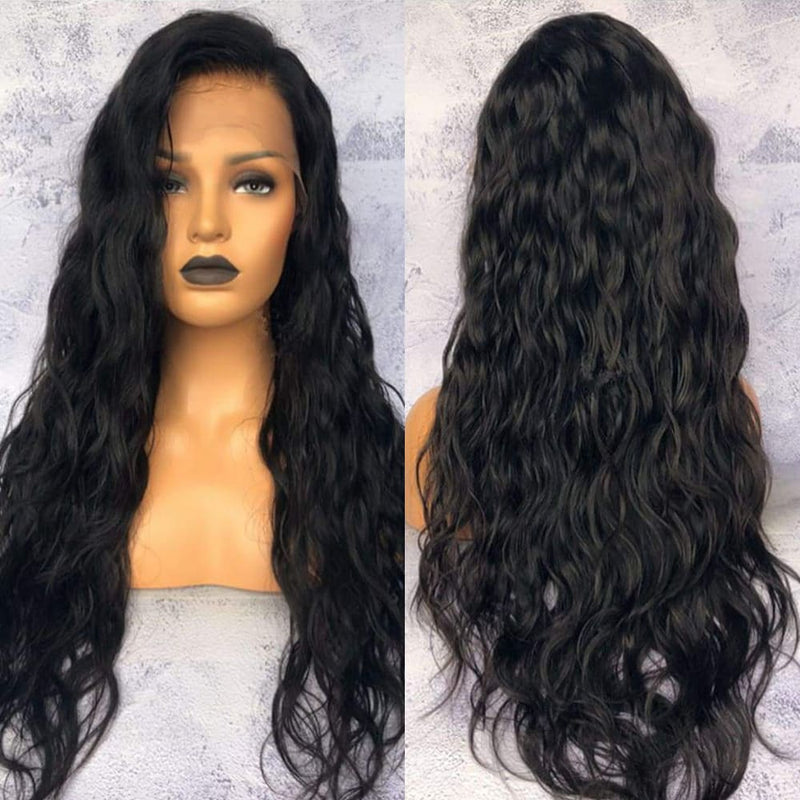 Nora Natural Wave Full Lace Human Hair Wigs Natural Color Brazilian Human Virgin Hair Free Part Lace Wigs