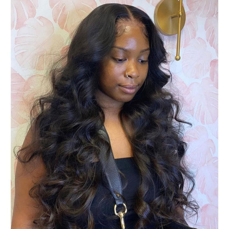 Sage Preplucked Hairline Body Wave Human Hair 360 Lace Front Wig