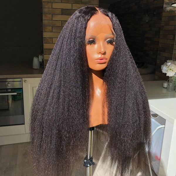 Swiss Lace Pre-plucked Hide Lace+ Hide Knots Yaki Straight Lace Wig