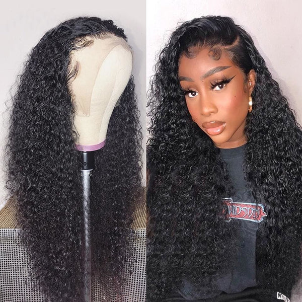 Theron Swiss Lace Pre-plucked Hide Lace+ Hide Knots Curly Lace Wig