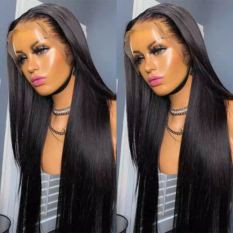 Ximena Preplucked Hairline Bleach Knots Straight Human Hair Wigs For Women 13*4 Lace Front Wig